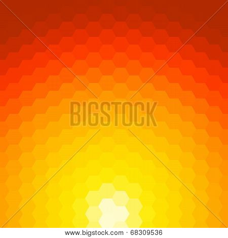 Abstract Sunset Vector Background Made Of Geometric Shapes