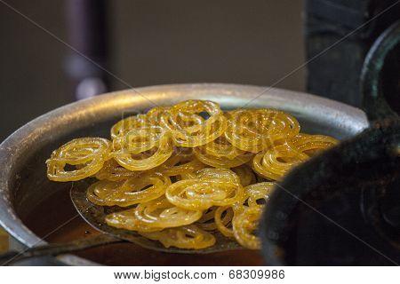 Jalebi - A Indian sweet dish