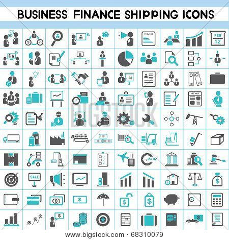 business icons, human resource, finance icons