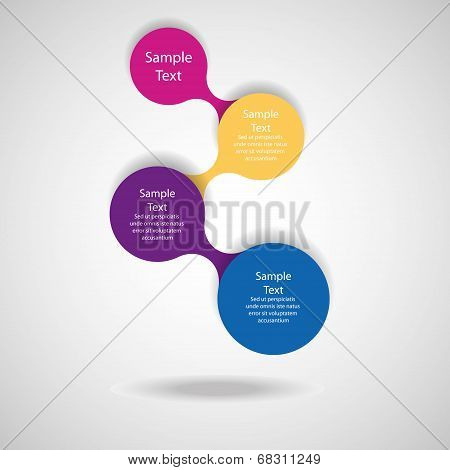colorful round diagram infographics