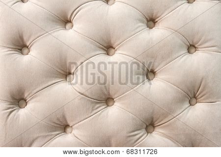 Close up of beige upholstery fabric pattern