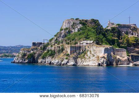 Old Byzantine fortress in Corfu, Greece