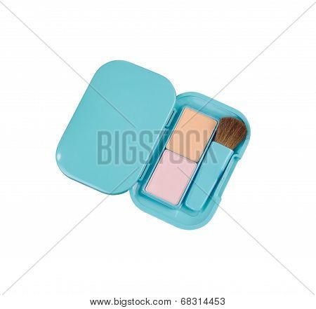 powder blush box with brush