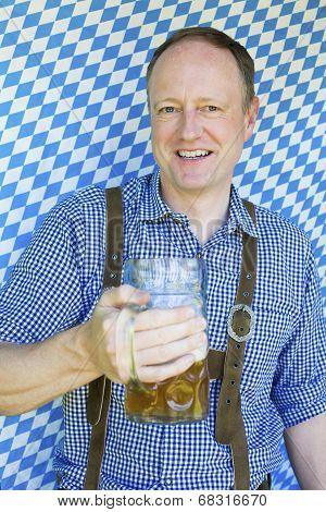Bavarian Man With Beer Mug