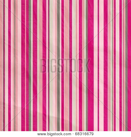 Retro Stripe Pattern In Grey  And Pink