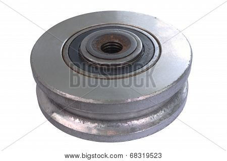 Damaged metal wheel