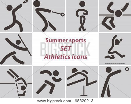 Set Of Athletics Icons