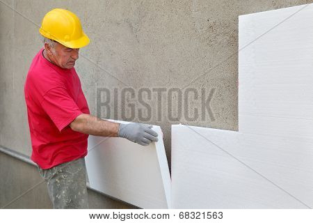 Construction Site, Thermal Insulation Of Wall