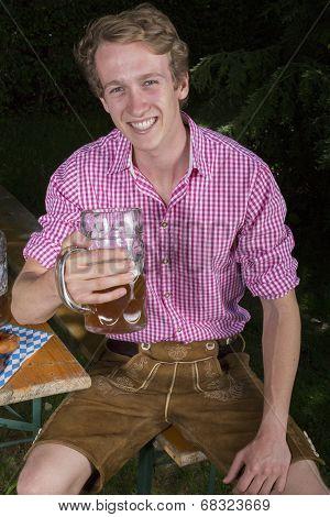 Young Bavarian Man