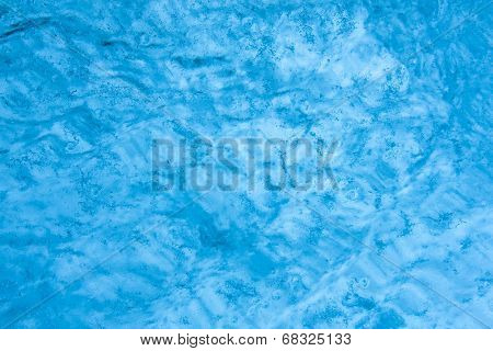 Solid block of natural ice background