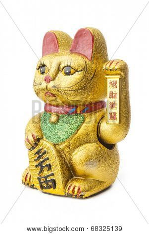 The Maneki Neki is an ancient cultural icon from japan. The welcoming cat supposedly brings great wealth and fortune to its owner.