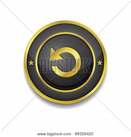 Reset Circular Vector Golden Black Web Icon Button