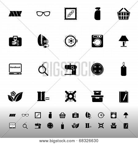 Sewing Cloth Related Icons On White Background