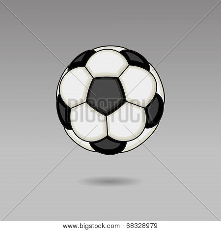 Football Ball on Light Background. Vector