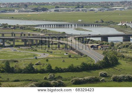 Airport At Shoreham. Sussex. England