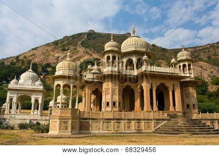 Gatore Ki Chhatriyan, Jaipur, Rajasthan, India.