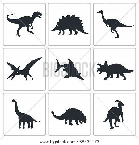 Dinosaurs Icons Collection