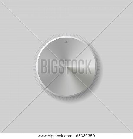 Volume Control Dial White Button Vector