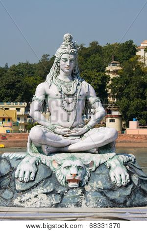 Shiva Statue In Rishikesh, India
