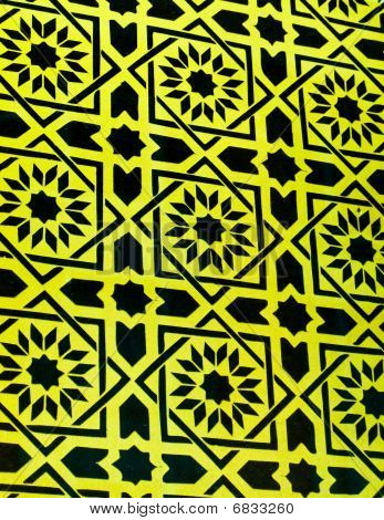 Abstract Yellow And Black Design Background