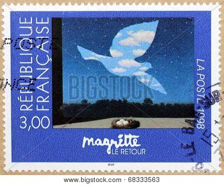 Rene Magritte Stamp
