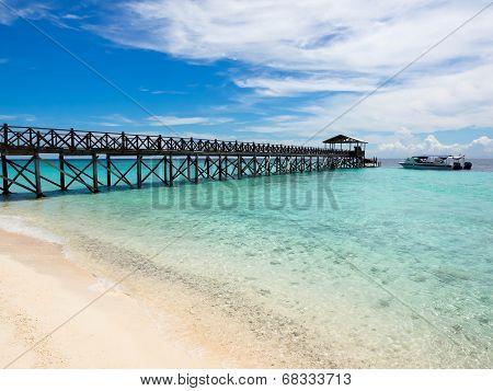 Pier At Sipadan Island, Sabah, Malaysia