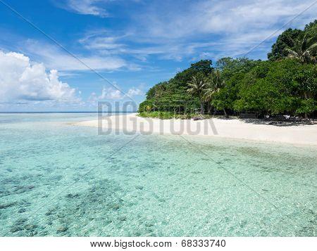 The Turquoise Colored Waters Of Sipadan Island, Sabah, Malaysia