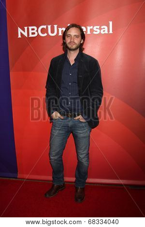 LOS ANGELES - JUL 14:  Aaron Stanford at the NBCUniversal July 2014 TCA at Beverly Hilton on July 14, 2014 in Beverly Hills, CA