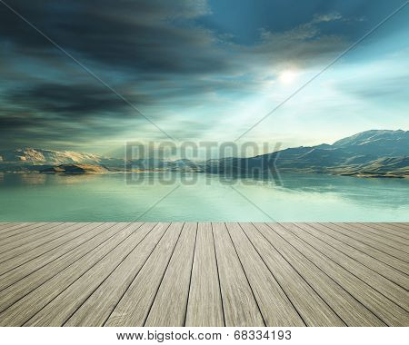 An image of a jetty at the ocean