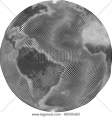 Guilloche Vector Illustration of Earth