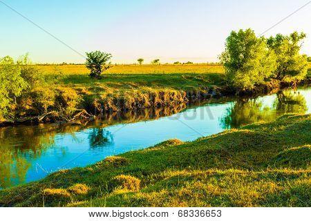 Relaxing Creek At Dawn