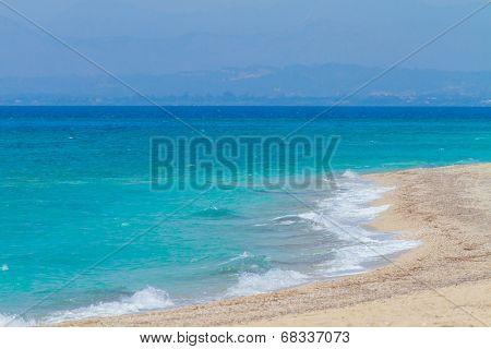 Agios Yoannis beach on Lefkas island in Greece