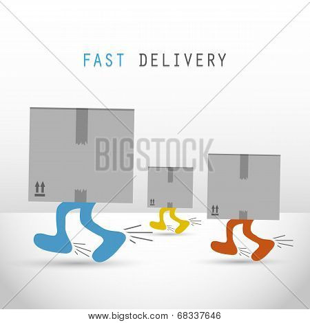 Courier delivery men boxes