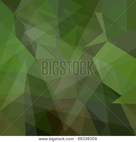 Abstract green geometric background with triangular polygons