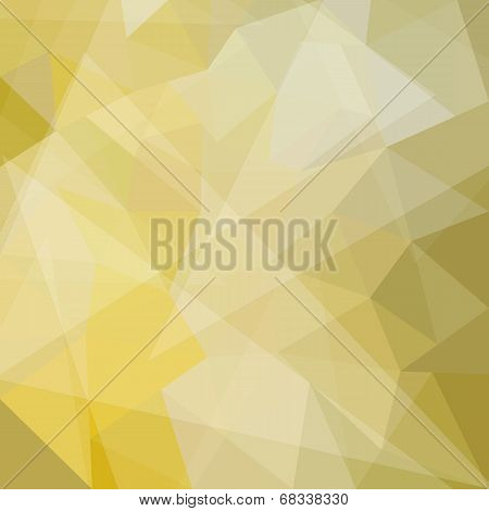 Abstract yellow geometric background with triangular polygons