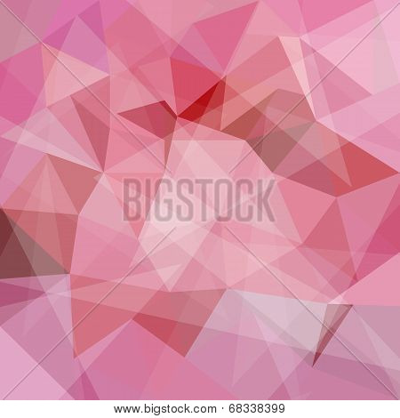 Abstract geometric pink background with triangular polygons