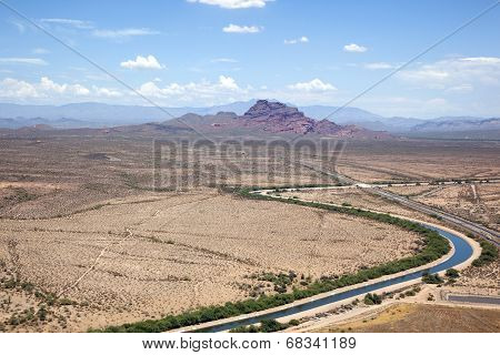 Irrigation Canal In Arizona