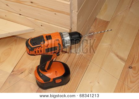 Black And Orange Electric Screwdriver With A Reamer