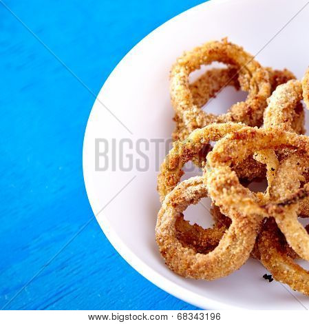 Baked onion rings snack