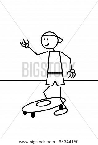 Stick Figure Skateboard