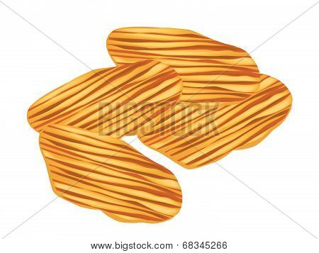 Thai Caramelized Crisps On A White Background