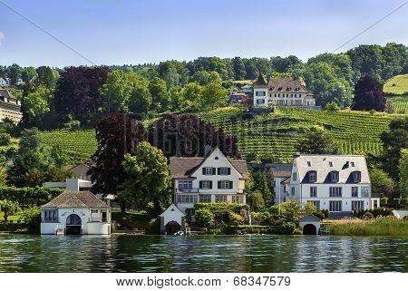 Shores Of Lake Zurich, Switzerland