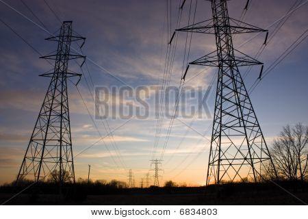 Power Line Sunset
