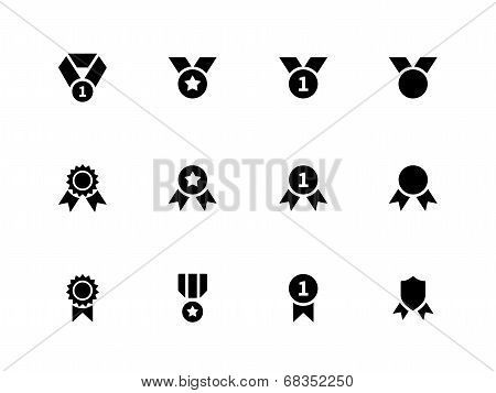Award and medal icons on white background.
