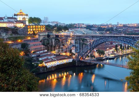Dom Luis Bridge And Vila Nova De Gaia, Portugal