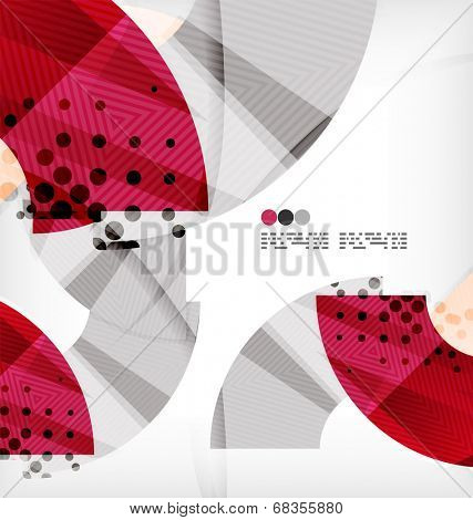 Semicircle geometric vector abstract composition with place for text