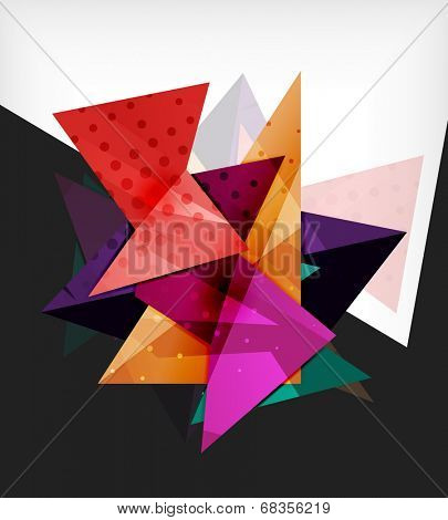 Modern futuristic techno abstract composition made of 3d geometric shapes with space for your business slogans
