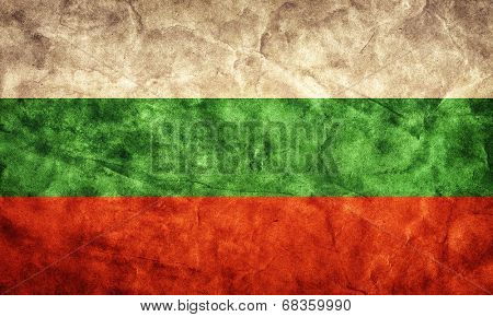 Bulgaria grunge flag. Vintage, retro style. High resolution, hd quality. Item from my grunge flags collection.
