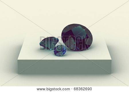 Alexandrite On White Podium