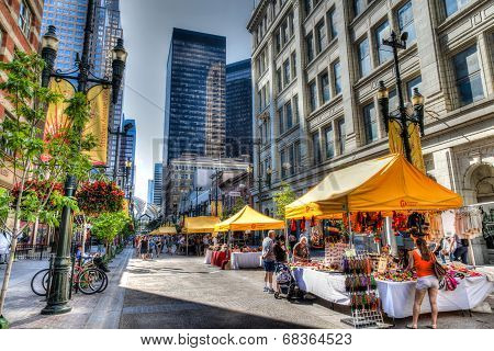Stephen Avenue Walk In Calgary, Canada